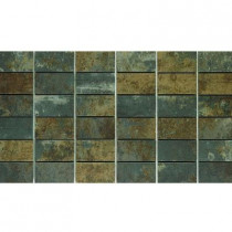 U.S. Ceramic Tile Argos 13 in. x 24 in. Titanium Porcelain Mesh-Mounted Mosaic Tile-DISCONTINUED