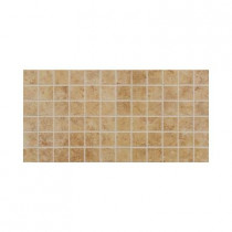 Daltile Fidenza Dorado 12 in. x 24 in. x 8 mm Porcelain Mesh-Mounted Mosaic Floor and Wall Tile (24 sq. ft. / case)