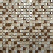 MS International Caramel Cream 12 in. x 12 in. x 8 mm Glass Stone Mesh-Mounted Mosaic Tile (10 sq. ft. / case)