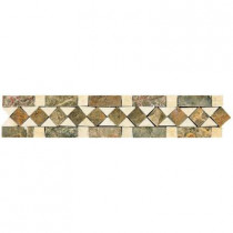 Daltile Stone Decorative Accents Diamond Dream 2-3/8 in. x 12 in. Marble Accent Wall Tile