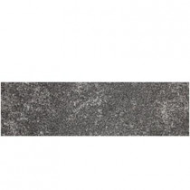 Daltile Metal Effects 3 in. x 13 in. Radiant Iron Porcelain Surface Bullnose Floor and Wall Tile-DISCONTINUED