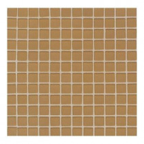 Daltile Maracas Evening Sun 12 in. x 12 in. 8 mm Frosted Glass Mesh-Mounted Mosaic Wall Tile