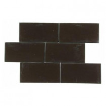 Splashback Tile Contempo 3 in. x 6 in. Mahogany Frosted Glass Tile-DISCONTINUED