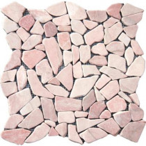MS International Buff Flat Pebbles 16 in. x 16 in. x 10 mm Tumbled Marble Mesh-Mounted Mosaic Tile (12.46 sq. ft. / case)