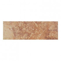 Daltile Canaletto Rosso 3 in. x 13 in. Porcelain Bullnose Floor and Wall Tile-DISCONTINUED