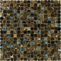 MS International Emperador 12 in. x 12 in. x 8 mm Glass Stone Mesh-Mounted Mosaic Tile (10 sq. ft. / case)