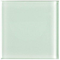 U.S. Ceramic Tile Glass White 4 in. x 4 in Wall Tile