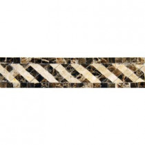 MS International Emperador 2 in. x 8 in. Polished Marble Listello Floor and Wall Tile (10 pieces / case)