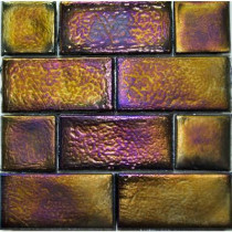 Studio E Edgewater Dusk Glass Mosaic & Wall Tile - 5 in. x 5 in. Tile Sample-DISCONTINUED