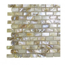 Splashback Tile Baroque Pearls Mini Brick Pattern Floor and Wall Tile Sample