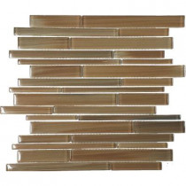 EPOCH Color Blends Selva Gloss Strips Mosaic Glass 12 in. x 12 in. Mesh Mounted Tile (5 sq. ft.)