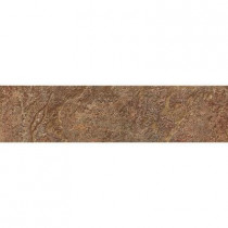 ELIANE Mt. Everest Rosso 3 in. x 12 in. Glazed Porcelain Bullnose Floor and Wall Tile