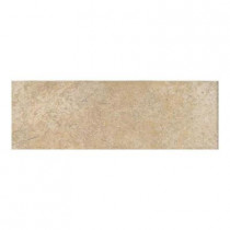 Daltile Alta Vista Sunset Gold 3 in. x 12 in. Porcelain Bullnose Floor and Wall Tile