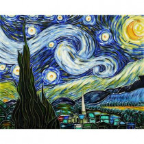 overstockArt Van Gogh, 11 in. x 14 in. Starry Night Wall Tile-DISCONTINUED