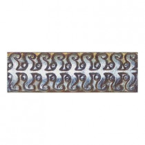 Daltile Cristallo Glass Black Opal 3 in. x 8 in. Perennial Glass Accent Wall Tile