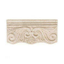 Daltile Fashion Accents Crema 4 in. x 8 in. Ceramic Decorative Cornice Wall Tile