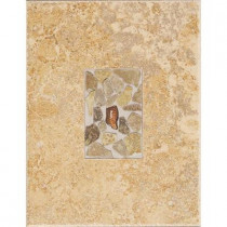Daltile Castle De Verre Chalice Gold 10 in. x 13 in. Porcelain Decorative Wall Tile-DISCONTINUED