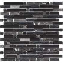 EPOCH Varietals Zinfandel-1652 Stone And Glass Blend 12 in. x 12 in. Mesh Mounted Floor & Wall Tile (5 sq. ft.)