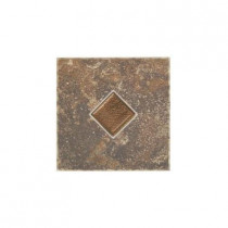 Daltile Castle De Verre Regal Rouge 6 in. x 6 in. Porcelain Decorative Floor and Wall Tile