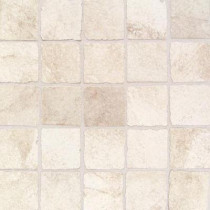 Daltile Portenza Bianco Ghiaccio 13-3/4 in. x 13-3/4 in. x 8 mm Porcelain Mosaic Floor and Wall Tile