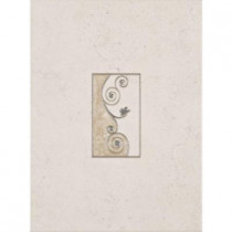 ELIANE Melbourne Sand 8 in. x 12 in. Ceramic Insert Wall Tile