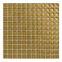 Daltile Maracas Raffia Gold 12 in. x 12 in. 8mm Glass Mesh-Mounted Mosaic Wall Tile (10 sq. ft. / case)-DISCONTINUED