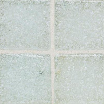 Daltile Sonterra Glass Ice White 12 in. x 12 in. x 6 mm Glass Sheet Mounted Mosaic Wall Tile