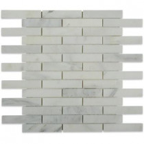 Splashback Tile Oriental Sculpture 12 in. x 12 in.x 8 mm Marble Mosaic Floor and Wall Tile