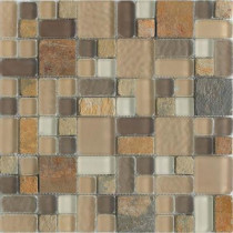 Epoch Architectural Surfaces No Ka 'Oi Paia-Pa420 Stone And Glass Blend Mesh Mounted Floor and Wall Tile - 3 in. x 3 in. Tile Sample