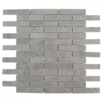 Splashback Tile Medieval Big Brick Polished 12 in. x 12 in. Marble Floor and Wall Tile-DISCONTINUED