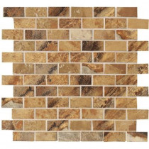 MARAZZI Jade 13 in. x 13 in. x 8-1/2 mm Ochre Porcelain Mesh-Mounted Mosaic Floor and Wall Tile