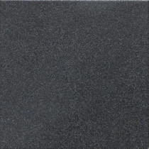 Daltile Colour Scheme Black Speckled 6 in. x 6 in. Porcelain Bullnose Floor and Wall Tile