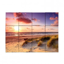 Tile My Style Beach1 24 in. x 18 in. Tumbled Marble Tiles (3 sq. ft. /case)