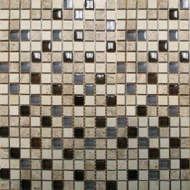 MS International Cafe Noche 12 in. x 12 in. x 8 mm Glass Stone Mesh-Mounted Mosaic Tile (10 sq. ft. / case)