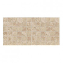 Daltile Salerno Cremona Caffe 12 in. x 24 in. 6 mm Ceramic Mosaic Floor and Wall Tile