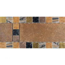 Daltile Terra Antica Bruno 6 in. x 12 in. Porcelain Decorative Accent Floor and Wall Tile