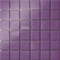 Elementz 12.5 in. x 12.5 in. Capri Viola Grip Glass Tile-DISCONTINUED