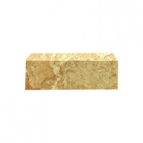 U.S. Ceramic Tile Fresno 3 in. x 10 in. Ocre Ceramic Bullnose Wall Tile-DISCONTINUED