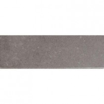 MS International Beton Concrete 4 in. x 12 in. Glazed Porcelain Bullnose Wall Tile