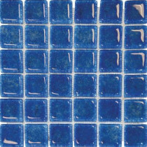MS International 12 in. x 12 in. Blue Glass Mesh-Mounted Mosaic Tile-DISCONTINUED
