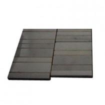 Splashback Tile Piano-Keys Pattern Vintage Mayflower White Marble Tile Sample