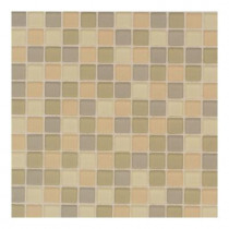 Daltile Maracas Flower Blend 12 in. x 12 in. 8mm Frosted Glass Mesh Mounted Mosaic Wall Tile (10 sq. ft. / case)-DISCONTINUED