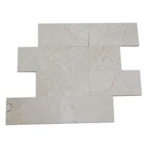 Splashback Tile Crema Marfil 3 in. x 6 in. x 4 mm Marble Floor and Wall Tile