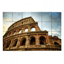 Tile My Style Colosseum 36 in. x 24 in. Tumbled Marble Tiles (6 sq. ft. /case)
