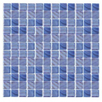EPOCH Irridecentz I-Blue-1414 Mosaic Recycled Glass 12 in. x 12 in. Mesh Mounted Tile (5 sq. ft.)
