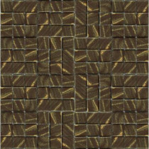 Epoch Architectural Surfaces Metalz Bronze-1012 Mosiac Recycled Glass Mesh Mounted Tile - 3 in. x 3 in. Tile Sample