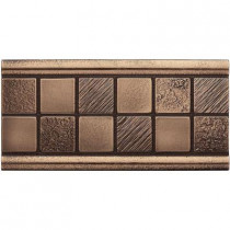 Weybridge 3 in. x 6 in. Cast Metal Mosaic Deco Classic Bronze Tile (10 pieces / case) - Discontinued