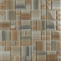 EPOCH Contempo Jasper-1672 Mosaic Glass Mesh Mounted Tile - 4 in. x 4 in. Tile Sample-DISCONTINUED