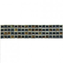 Daltile Fashion Accents Umber 3 in. x 12 in. Illumini Mosaic Accent Wall Tile