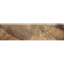 MARAZZI Jade 3 in. x 13 in. Chestnut Porcelain Bullnose Trim Floor and Wall Tile